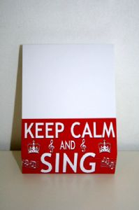 Musical Themed Block Note Pads 'Keep Calm and Sing'